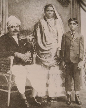 Dookhee with wife Mooneea and son